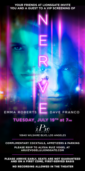 Screening eVite